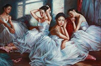 ballet girls after the training by alexander akopov