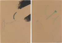 inhibitions? (+ untitled (floating nail), 1965; 2 works) by sigmar polke