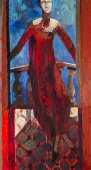 kobieta przy balustradzie by michal zaborowski