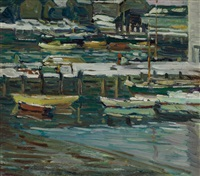 boats at rest by charles salis kaelin