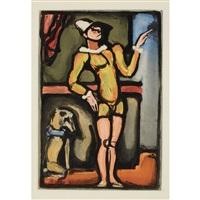 auguste (from cirque de l'etoile filante) by georges rouault