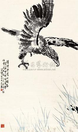 雄鹰图 the eagle by xu beihong