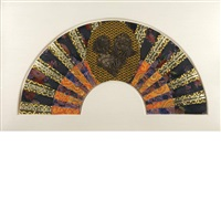 untitled (fan) by miriam schapiro