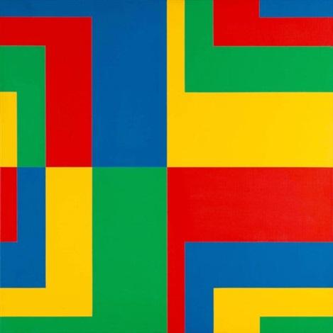 8 horizontale farbpaare aus 4 gleichgrossen und gleichgeteilten quadraten 8 horizontal colour pairs of 4 squares of the same size and equally divided by carlo vivarelli