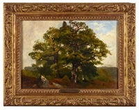paysage au grand arbre by théodore fourmois