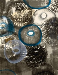 happiness for instance i; happiness for instance iii (2 works) by ross bleckner