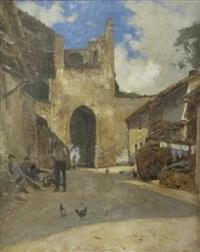 yvoire, porte de nernier by francois-louis-david bocion