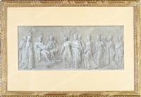 napoléon entouré des quatre vertus accordant la paix aux contées italiennes by andrea appiani