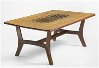 dining table from chandigarh, india by pierre jeanneret
