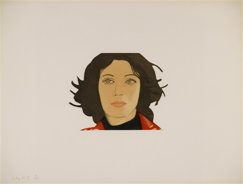 face of the poet portfolio of 14 by alex katz