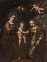 matrimonio mistico di santa caterina by giovanni bernardino azzolini