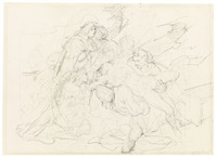 recto: descent from the cross; verso: venus and adonis by théodore géricault