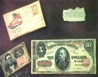 a soldier's letter and money: a trompe l'oeil by jacob atkinson