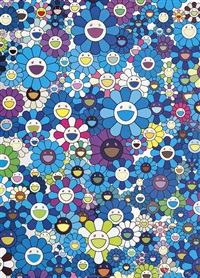 an homage to ikb c by takashi murakami