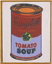 andy warhol, campbell's soup can by richard pettibone
