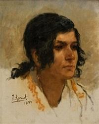 retrato de mujer by joaquín agrasot y juan