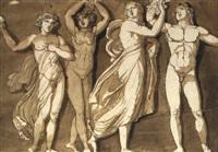 reliefris med antikiserande figurer by jonas akerstrom