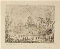 la kermesse au moulin (village fair at the windmill) by james ensor