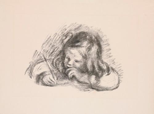 le petit garçon au porte plume claude renoir écrivait by pierre auguste renoir
