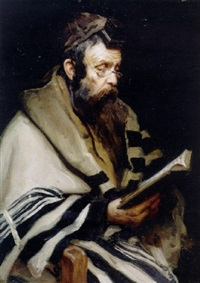 rabbi in prayer by aleksandr avvakumonih kurennoy