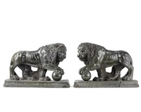 medici lions (pair) by flaminio vacca
