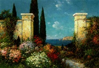 italian gardens in bloom by f. arnold