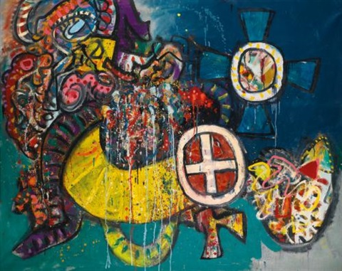 miraculous cross mar 68 by alan davie