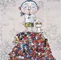 pom & me: on the red mound of the dead by takashi murakami