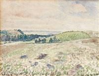 terrain laboure, eragny by camille pissarro