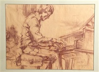 piano man (sketch) by virginia fouche bolton