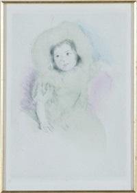 margot wearing a bonnet by mary cassatt