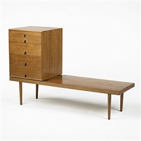 cabinet and bench by eero saarinen and charles eames