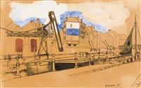 le long du canal, paris by alfred louis courmes