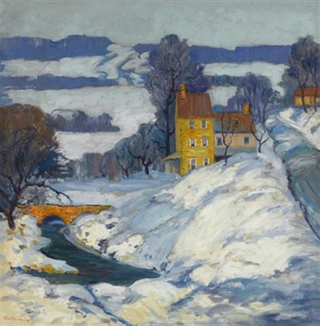 snow covered valley by fern isabel coppedge