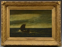 marine - boat at sea by albert pinkham ryder