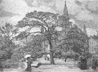 der rathauspark im frühling by ferdinand kruis