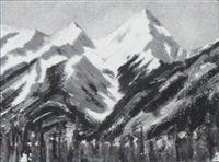 untitled (mountain range) by peter whyte