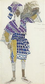 costume design for le dieu bleu by leon bakst