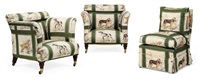 armchairs (pair) (+ nursing chair; 3 works) by howard & sons