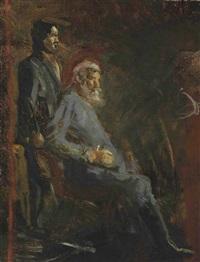surrender of general lee (study) by thomas eakins