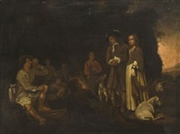 couple visitant des bergers by michael sweerts