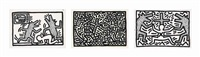 three plates from: untitled 1-6 (3 works) by keith haring