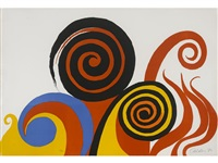 spirals and flames by alexander calder