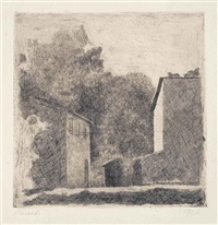paesaggio (chiesanuova) by giorgio morandi