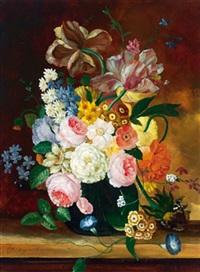 sommerblumenstrauß in einer vase by erich josef donau dogarth