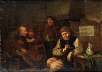 topers in a tavern interior by egbert van heemskerck the younger