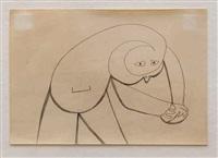 figure with clasped hands by john anthony (tony) tuckson