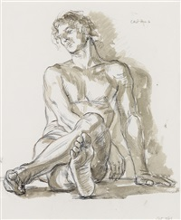 study for portrait of a dancer (z11) by paul cadmus