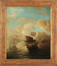 naval battle by baron jean antoine théodore gudin