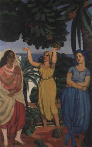 trois algériennes by louis françois cabanes